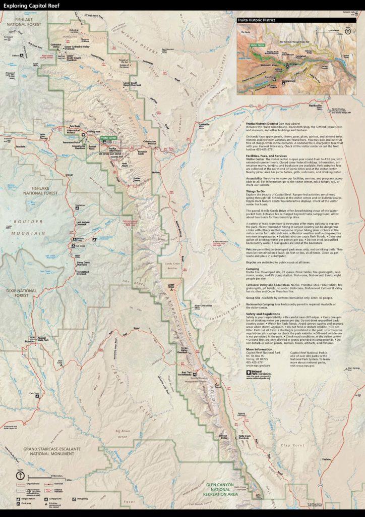 Capitol Reef - Mapa