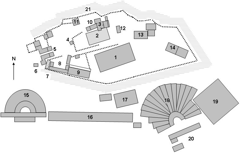 Plan Starożytnego Akropolu