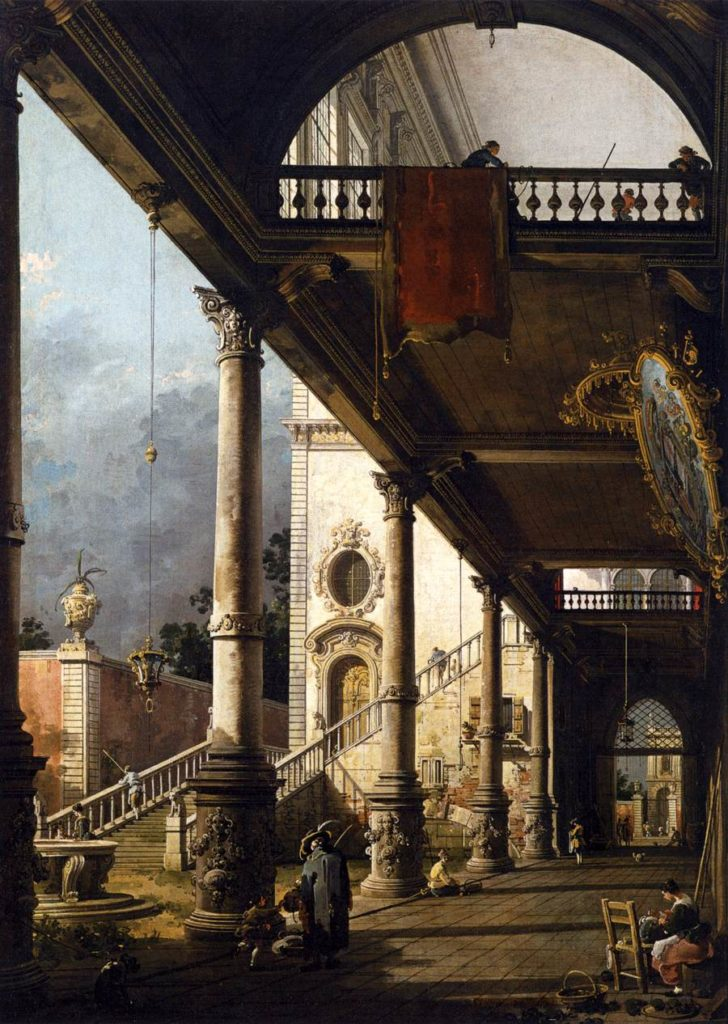 Giovanni Antonio Canal - Canaletto -Perspektywa z Portykiem