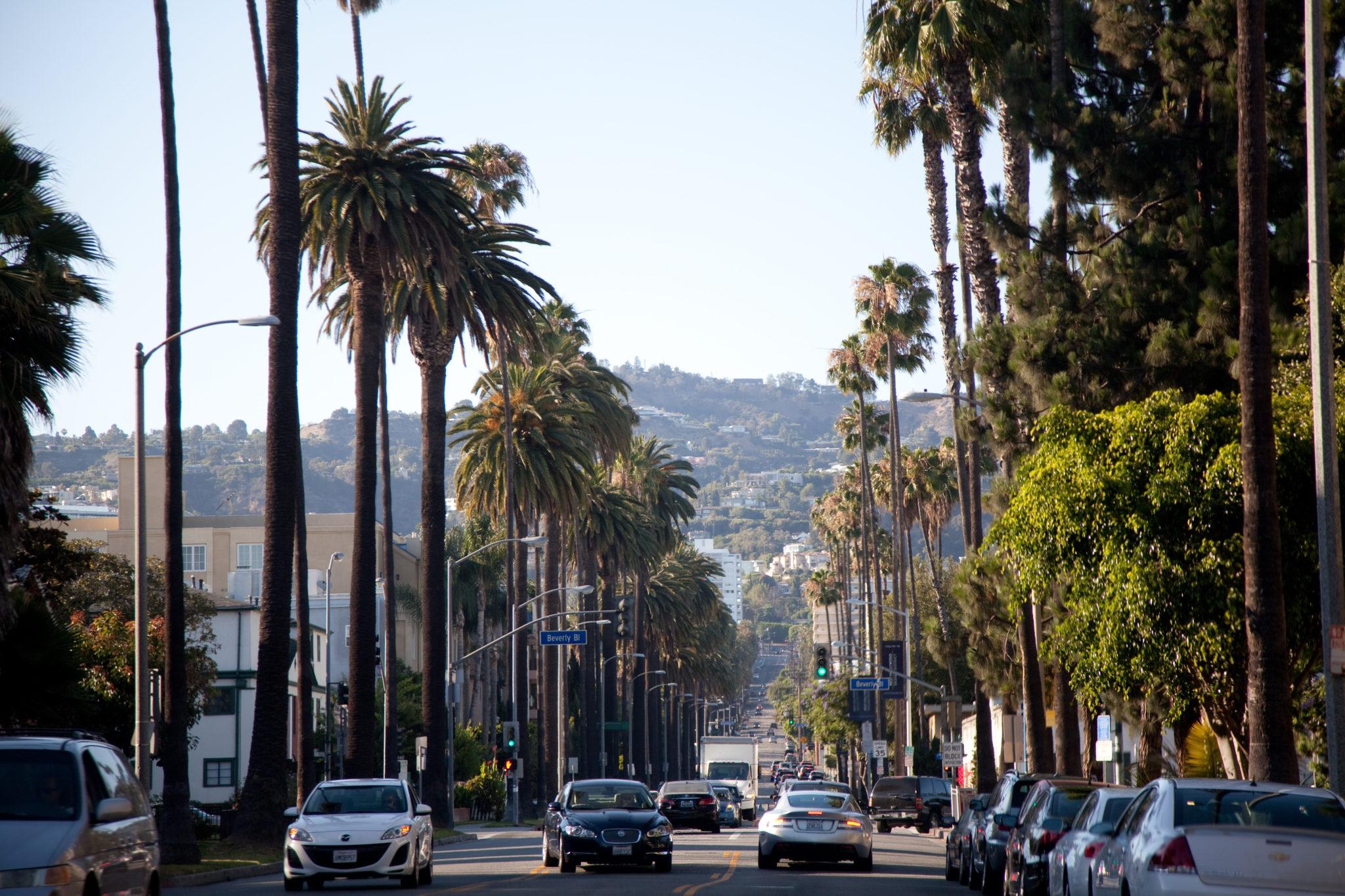Stany z południa na północ. Los Angeles