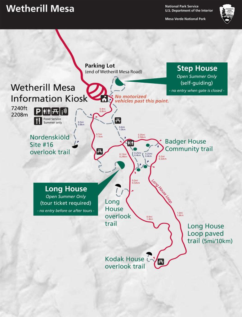 Wetherill Mesa - Mapa