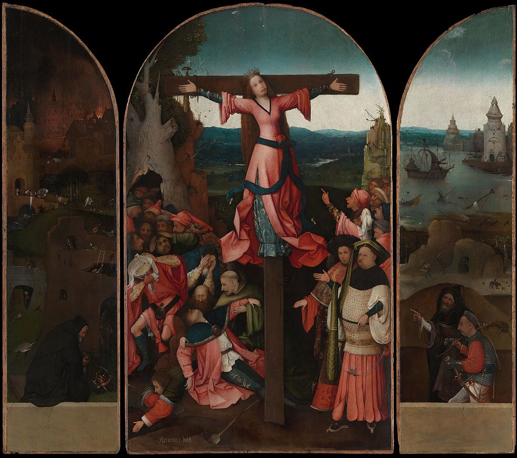 Hieronim Bosch ukrzyżowanie św. Julii