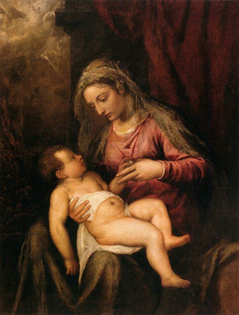 Tycjan Dziewica z dzieciątkiem