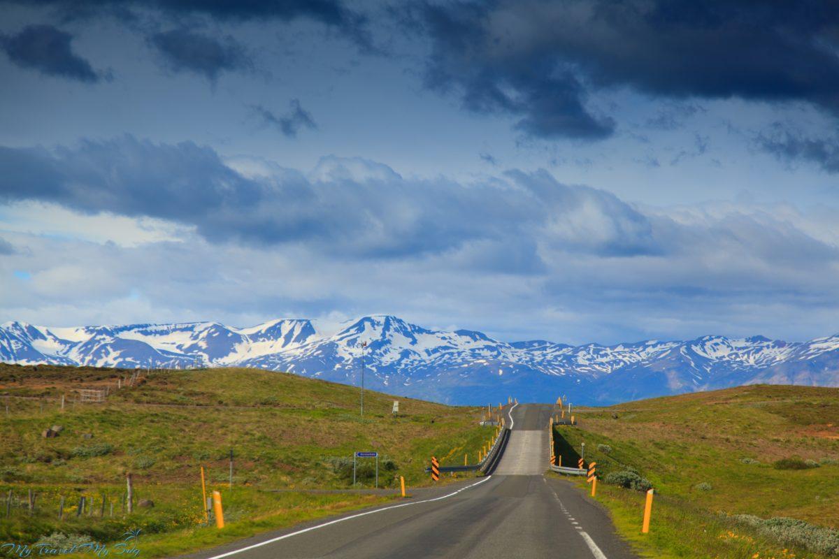 Północna Islandia droga do Akureyri