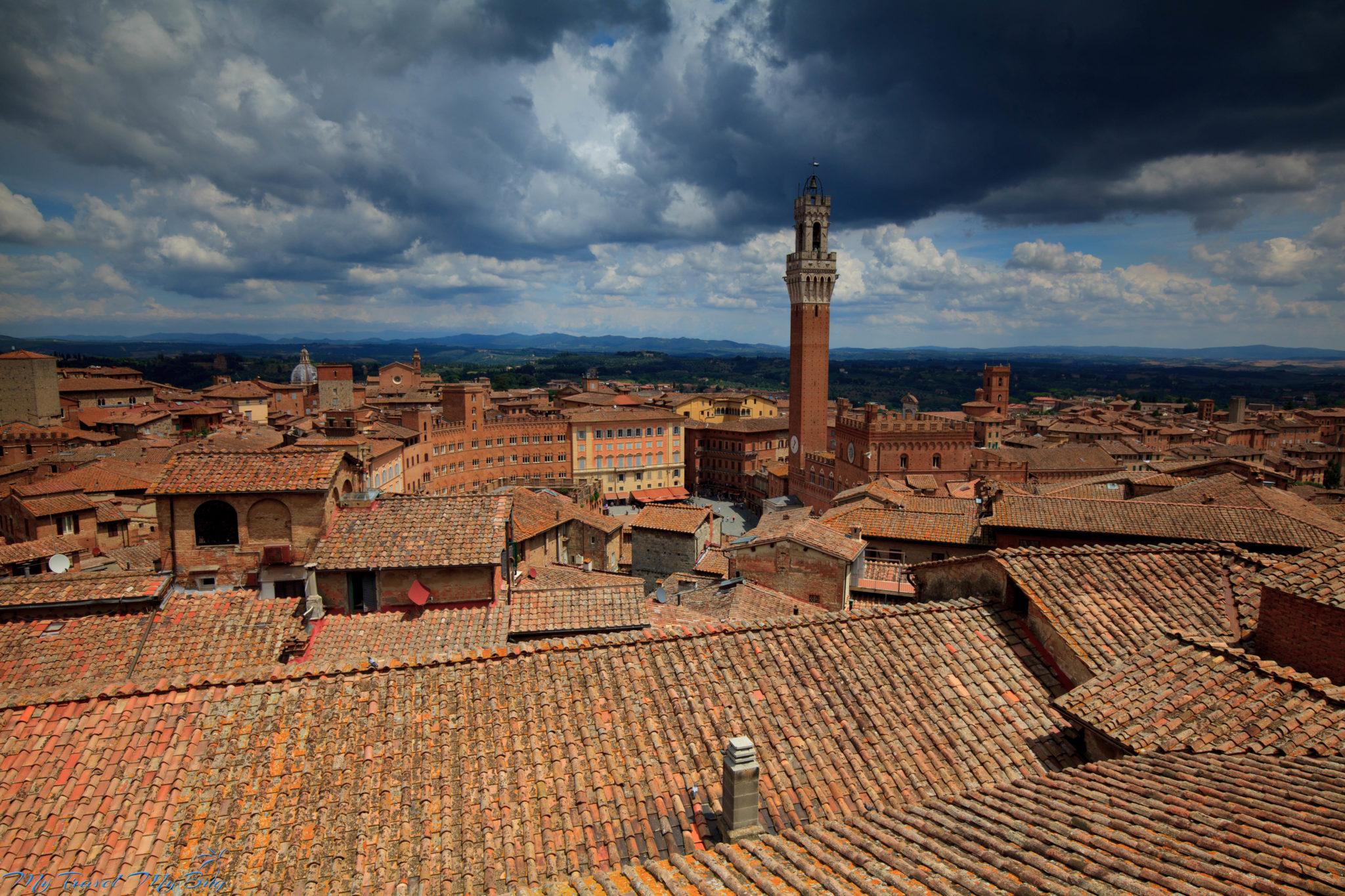 Włochy – samo południe.  Droga do Sieny