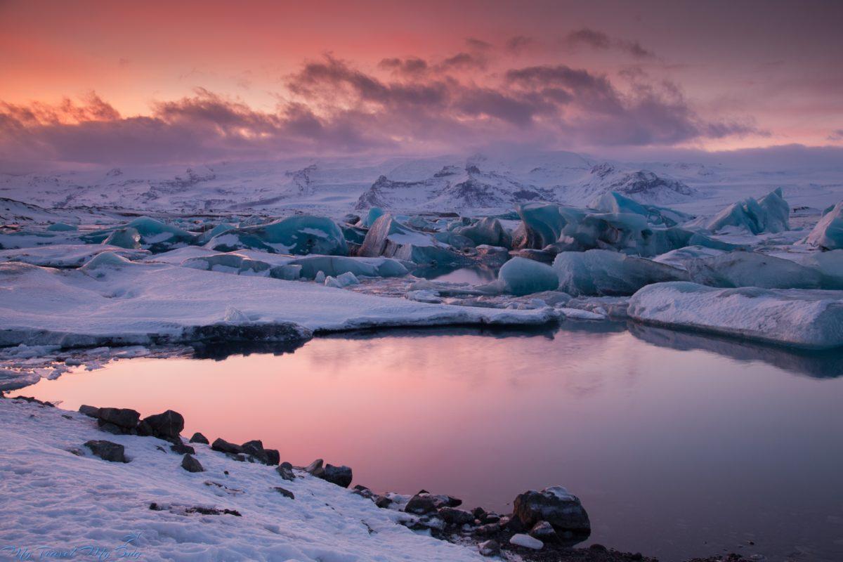 Co zwiedzić na Islandii zimą Lodowa laguna Jökulsárlón - Objazd Islandii zimą
